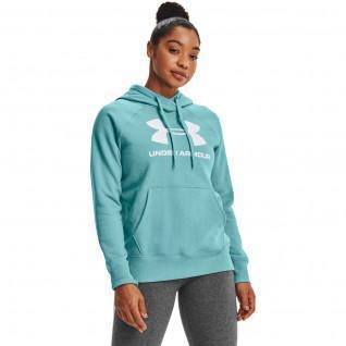 Sudadera con capucha para mujer Under Armour avec logo Rival Fleece