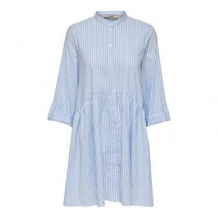 Vestido camisero de mujer Only Ditte life stripe manches 3/4