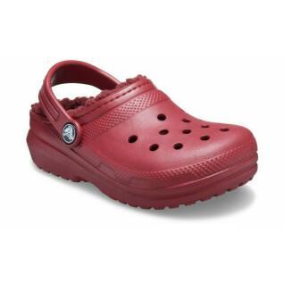 Crocs enfant classic fuzz lined clog