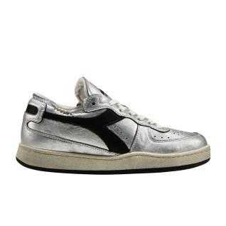 Zapatillas de deporte de mujer Diadora row cut silver used