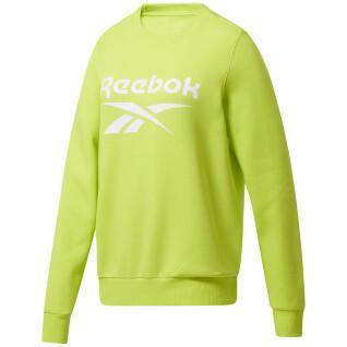 Sudadera cuello redondo mujer Reebok Identity Logo Fleece