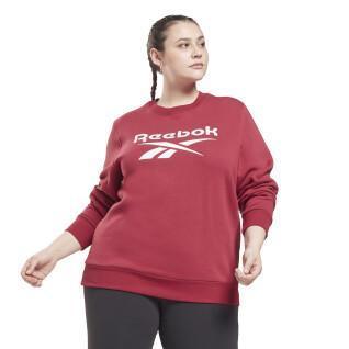 Sudadera de cuello redondo con logotipo de identidad para mujer (tallas grandes)