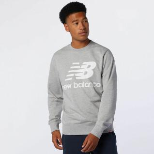 Sudadera New Balance essentials stacked logo crew