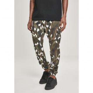 Pantalones cargo de sarga elástica geométrica Urban Classic