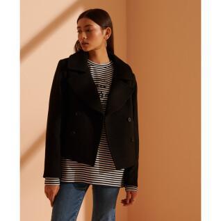 Abrigo corto de lana para mujer Superdry