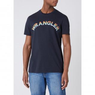 Camiseta Wrangler Rainbow Blue Graphite