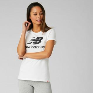 Camiseta de mujer New Balance essentials stacked